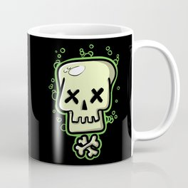 Toxic skull and crossbones green Coffee Mug
