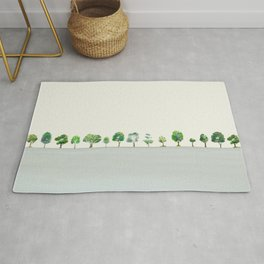 A Row Of Trees Rug