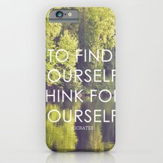 socrates + the wilderness iPhone 6s Slim Case