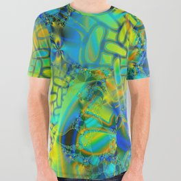 Abstract Layering All Over Graphic Tee