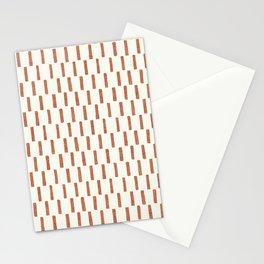 block print dash - terra cotta Stationery Cards