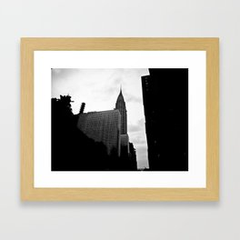NEW YORK//SILHOUETTE Framed Art Print