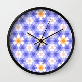 Stars and hexagons Wall Clock