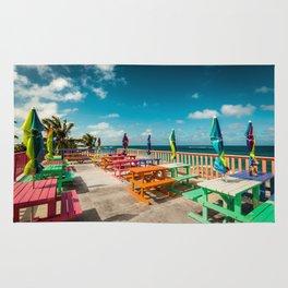 colorful terrace landscape Rug