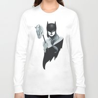 gotham Long Sleeve T-shirts featuring Gotham Masquerade by Cristina Stefan