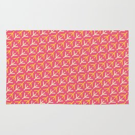 Chicken Feet - Geometric Pattern (Pink and Yellow) Rug