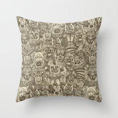 gargoyles vintage Throw Pillow