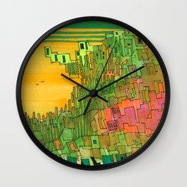 Seaweed City Wall Clock