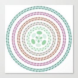 Retro floral circle 3 Canvas Print