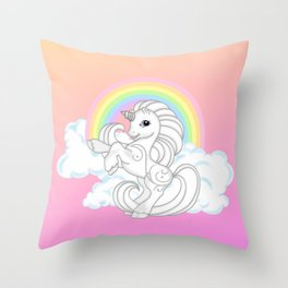 g2 my little pony Princess Silver Swirl Throw Pillow