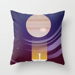 Galileo - Exploration of the Jupiter system Throw Pillow