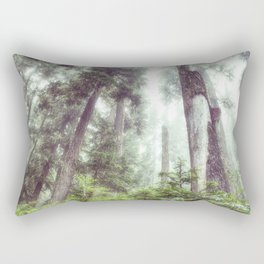 Dreamy Forest Fog Rectangular Pillow