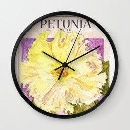 Petunia Seed Packet Wall Clock