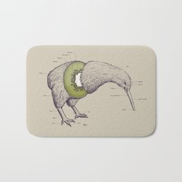 Kiwi Anatomy Bath Mat