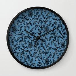 Vintage Lace Floral Niagara Wall Clock