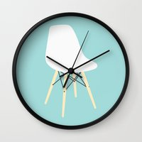 eames Wall Clocks featuring #98 Eames Chair by MNML Thing