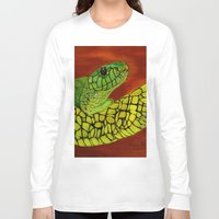 snake Long Sleeve T-shirts featuring Snake by maggs326