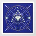 Evil Eye Mandala – Navy by catcoq