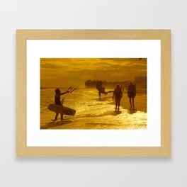 Mui ne beach Framed Art Print