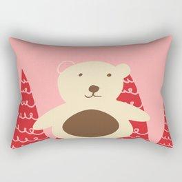 Christmas polar bear pink Rectangular Pillow