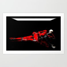 Red Robot Recharge Art Print