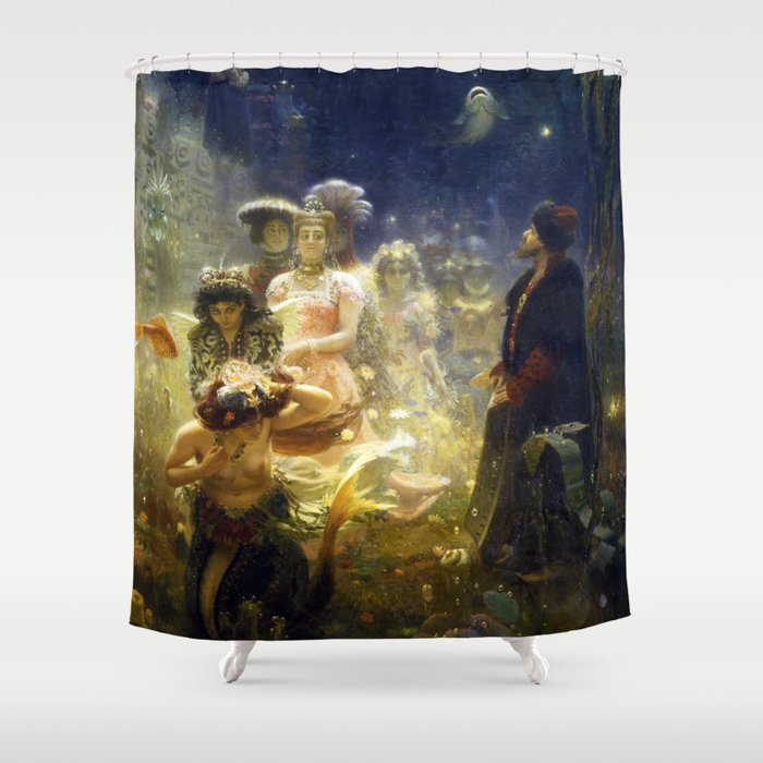 Sadko in the Underwater Kingdom by Ilya Repin (1876) Shower Curtain