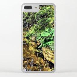 Zilker Botanical Gardens - Austin, Texas - Graphic 2 Clear iPhone Case