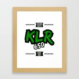The Kawasaki KLR 650 Kicking Butts since 1987 Framed Art Print