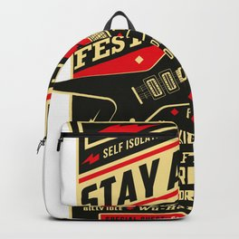 Distancing Quarantine Social Stay Home Festival 2020 Backpack