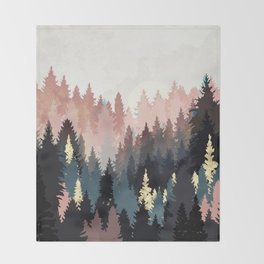 Spring Forest Light Throw Blanket