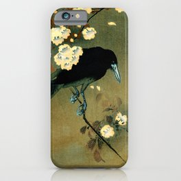 Ohara Koson - Top Quality Art - Crow and Blossom iPhone Case