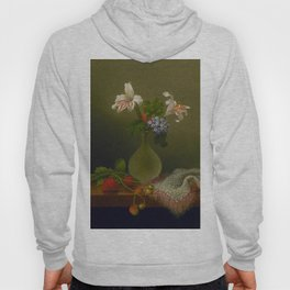 A Vase Of Corn Lilies And Heliotrope 1863 By Martin Johnson Heade | Reproduction Hoody