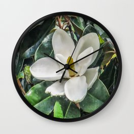 Soft Magnolia Wall Clock