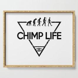 Chimp Life (Black) Serving Tray
