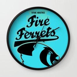Future Industries Fire Ferrets Wall Clock