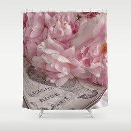 Paris Peonies    Romantic Floral Still Life Shower Curtain