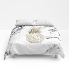 Marble Pineapple Comforters