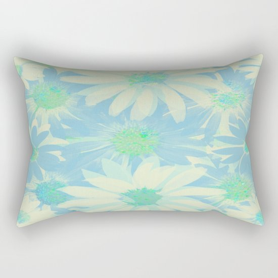 Soft Painterly Floral Sparkle Absract Rectangular Pillow