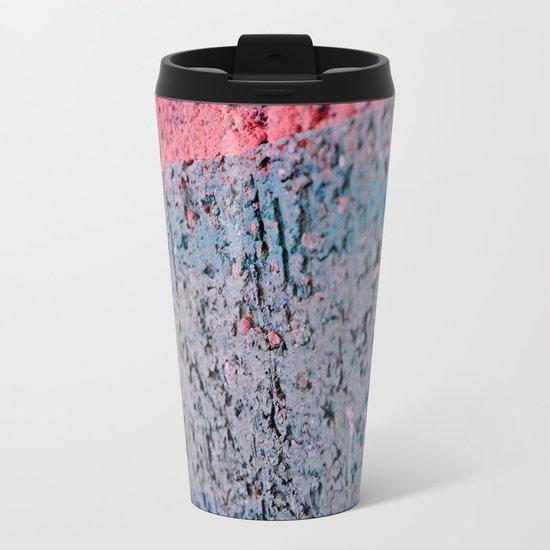 Pink Brick Metal Travel Mug