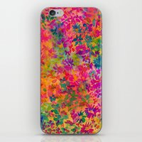 flora iPhone & iPod Skins featuring Flora by Amy Sia