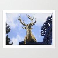 The golden horn Art Print