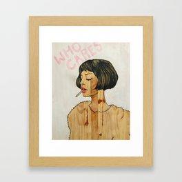 Who Cares? Framed Art Print