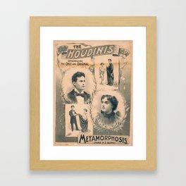 Houdini, Metamorphosis, vintage poster Framed Art Print