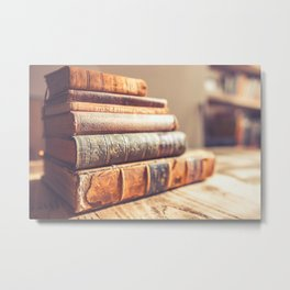 Bookish - Library Bookworm Books Metal Print