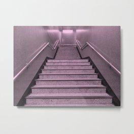 Tube Stairs Metal Print