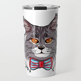Maine Coon Cat Face Cats Love cute funny lovely Travel Mug