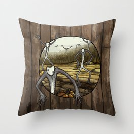 Halloween Harvest Spirits of Growth and Decay - pumpkin spoopy spirited ghost fall dark magic Throw Pillow