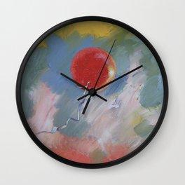Goodbye Red Balloon Wall Clock