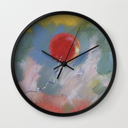 Goodbye Red Balloon Wall Clock