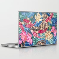 outdoor Laptop & iPad Skins featuring Koi Pond by Vikki Salmela